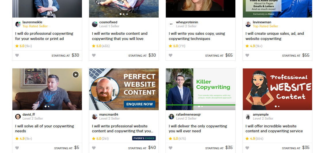 Fiverr Copywriting