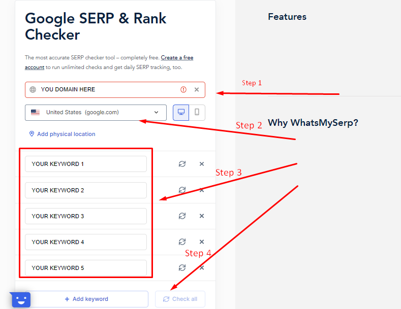 how to use whatmyserp