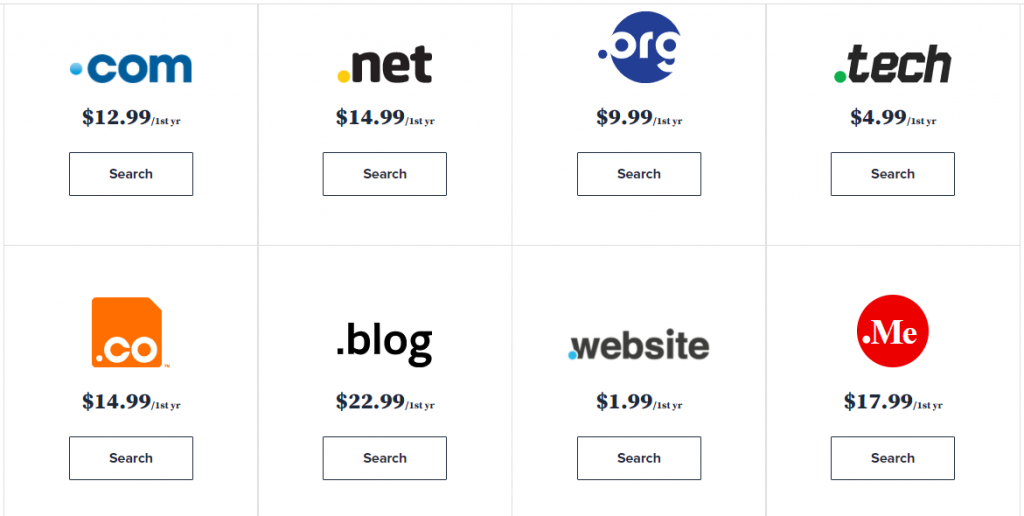 Bluehost price list